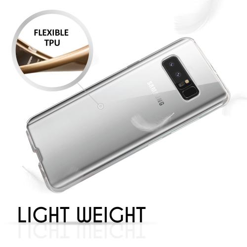 [REDshield] Samsung Galaxy Note 8 TPU Case, Slim & Flexible Anti-shock Crystal Silicone Protective TPU Gel Skin Case [Clear]