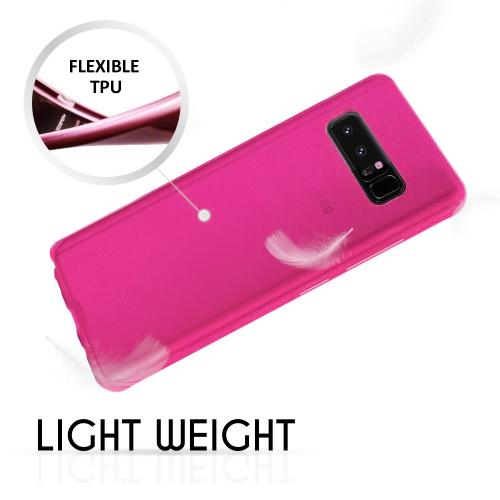 [REDshield] Samsung Galaxy Note 8 TPU Case, Slim & Flexible Anti-shock Crystal Silicone Protective TPU Gel Skin Case [Hot Pink]