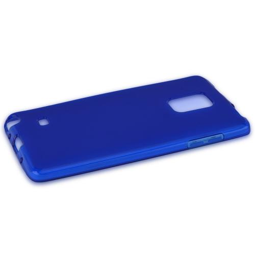 Samsung Note Edge Tpu Case [blue / Clear] Protective Bumper Case W/ Flexible Crystal Silicone Tpu Impact Resistant Material