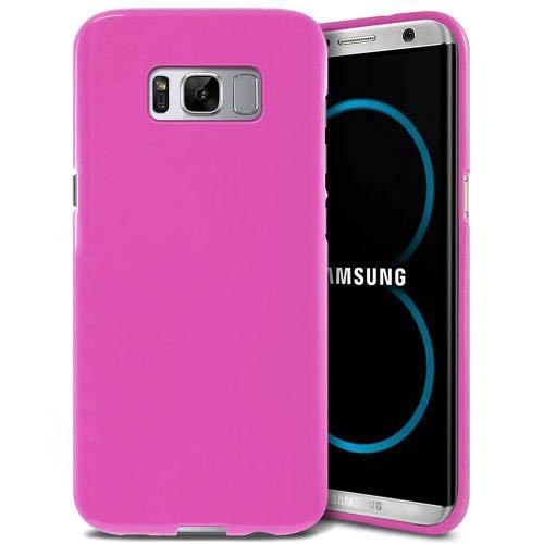 Samsung Galaxy S8 Plus TPU Case,[REDshield] Slim & Flexible Anti-shock Crystal Silicone Protective TPU Gel Skin Case Cover [Hot Pink] with Travel Wallet Phone Stand