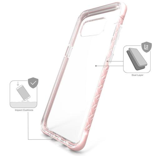 Scottii [Samsung Galaxy S8] TPU Case with Removable ROSE GOLD Borders and Clear Back