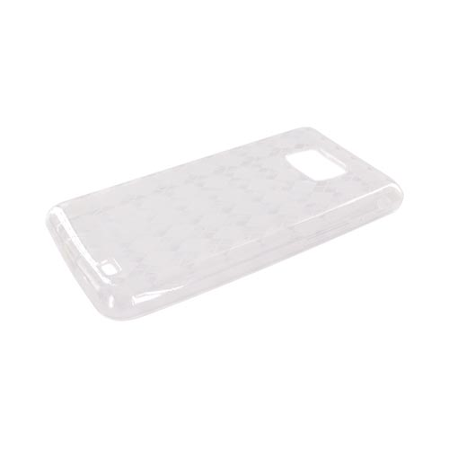 AT&T Samsung Galaxy S2 Crystal Silicone Case - Transparent Clear Argyle