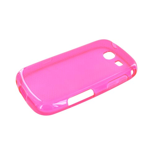 Samsung Freeform 3 Crystal Silicone Case - Airplane Print on Hot Pink