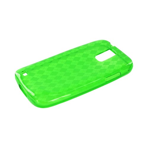 T-Mobile Samsung Galaxy S2 Crystal Silicone Case - Argyle Green
