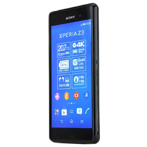 Sony Xperia Z3 Tpu Case [black] Protective Bumper Case W/ Flexible Crystal Silicone Tpu Impact Resistant Material