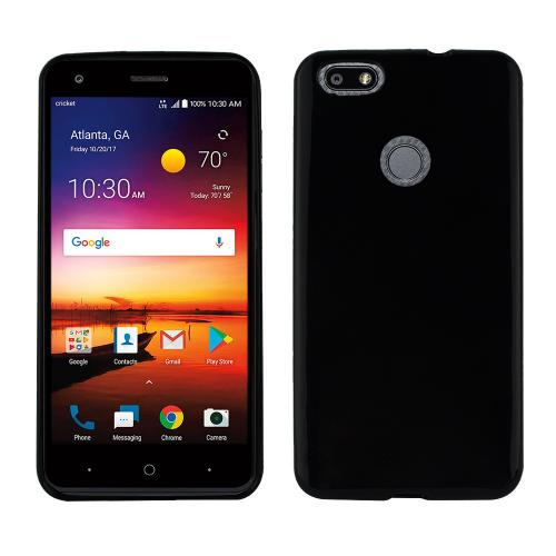 [REDshield] ZTE Blade X TPU Case, [Black] Slim & Flexible Anti-shock Crystal Silicone Protective TPU Gel Skin Case Cover