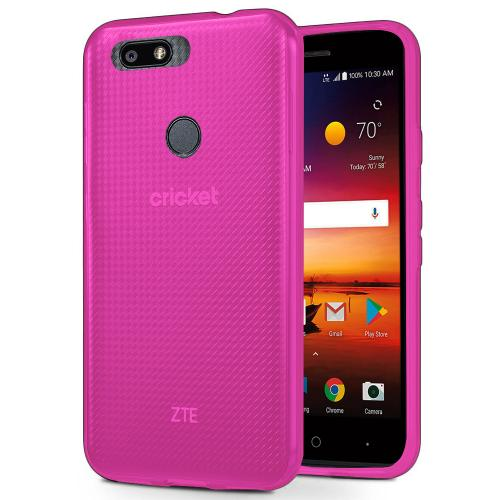 [REDshield] ZTE Blade X TPU Case, [Hot Pink] Slim & Flexible Anti-shock Crystal Silicone Protective TPU Gel Skin Case Cover