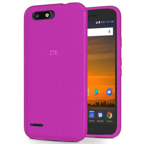 [REDshield] ZTE Blade Force TPU Case, [Hot Pink] Slim & Flexible Anti-shock Crystal Silicone Protective TPU Gel Skin Case Cover