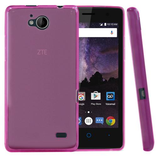 [ZTE Tempo] Case, REDshield [Hot Pink] Slim & Flexible Anti-shock Crystal Silicone Protective TPU Gel Skin Case Cover with Travel Wallet Phone Stand