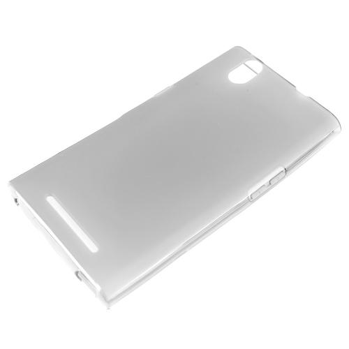 ZMax Case, [Clear / Frost] Slim & Flexible Crystal Silicone TPU Skin Cover for ZTE ZMax