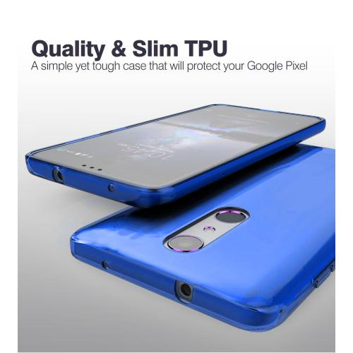 ZTE Z Max Pro Case, Slim & Flexible Anti-shock Crystal Silicone Protective TPU Gel Skin Case Cover [Blue] with Travel Wallet Phone Stand