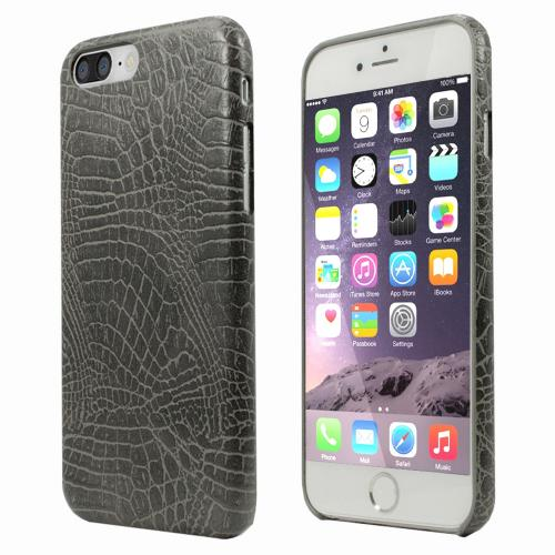 Apple iPhone 8/7/6S/6 Plus Case, Incircle [Bareskin Series] Ultra Slim Fit Faux Leather Flexible Bumper Case [Gray Alligator]