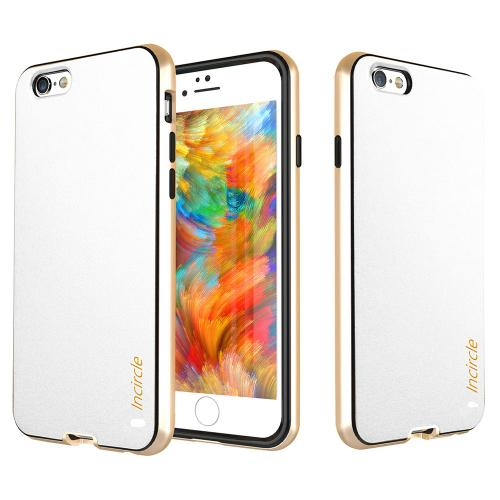 Made for Apple iPhone 6/6S (4.7 inch) Case, Incircle [Dual Protection Series] Premium Faux Leather Bumper Cover Case [White] by Redshield