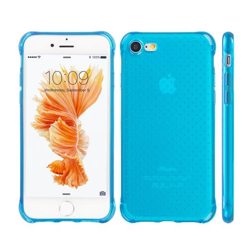 Made for Apple iPhone 8/7/6S/6 Case, [Blue] Durable Anti-shock Crystal Silicone Protective TPU Gel Skin Case Cover with Travel Wallet Phone Stand by Redshield