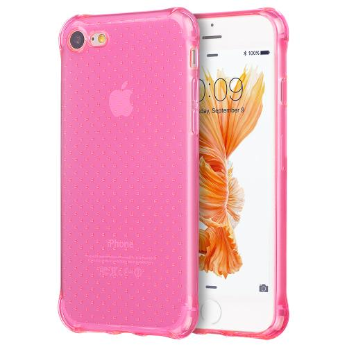 Made for Apple iPhone 8/7/6S/6 Case, [Hot Pink] Durable Anti-shock Crystal Silicone Protective TPU Gel Skin Case Cover with Travel Wallet Phone Stand by Redshield