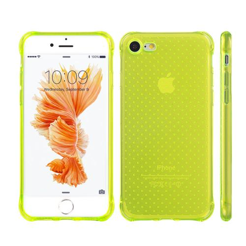 Apple iPhone 8/7/6S/6 Case, REDshield [Neon Green] Durable Anti-shock Crystal Silicone Protective TPU Gel Skin Case Cover with Travel Wallet Phone Stand