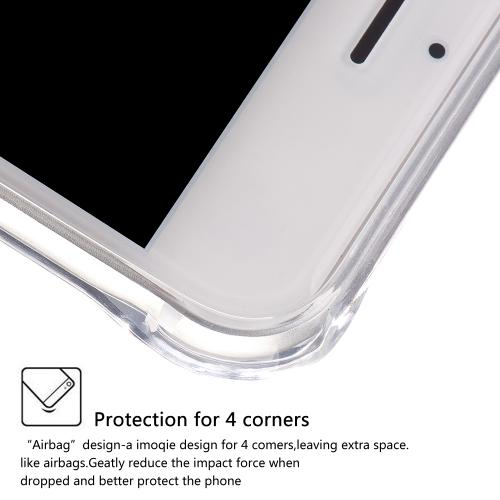 Made for Apple iPhone 8/7/6S/6 Plus Case, [Clear] Durable Anti-shock Crystal Silicone Protective TPU Gel Skin Case Cover with Travel Wallet Phone Stand by Redshield