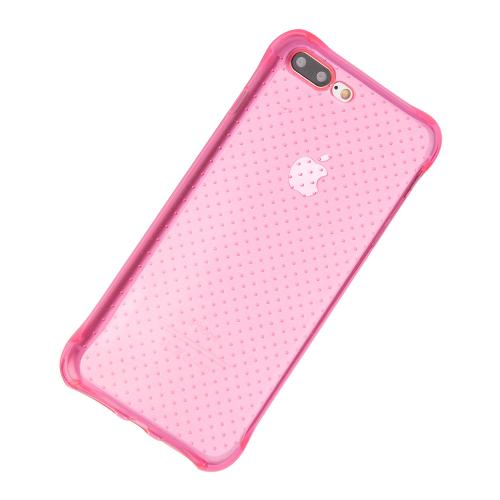 Made for Apple iPhone 8/7/6S/6 Plus Case, [Hot Pink] Durable Anti-shock Crystal Silicone Protective TPU Gel Skin Case Cover with Travel Wallet Phone Stand by Redshield