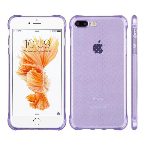 Made for Apple iPhone 8/7/6S/6 Plus Case, [Purple] Durable Anti-shock Crystal Silicone Protective TPU Gel Skin Case Cover with Travel Wallet Phone Stand by Redshield