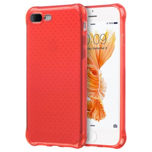 Made for Apple iPhone 8/7/6S/6 Plus Case, [Red] Durable Anti-shock Crystal Silicone Protective TPU Gel Skin Case Cover with Travel Wallet Phone Stand by Redshield