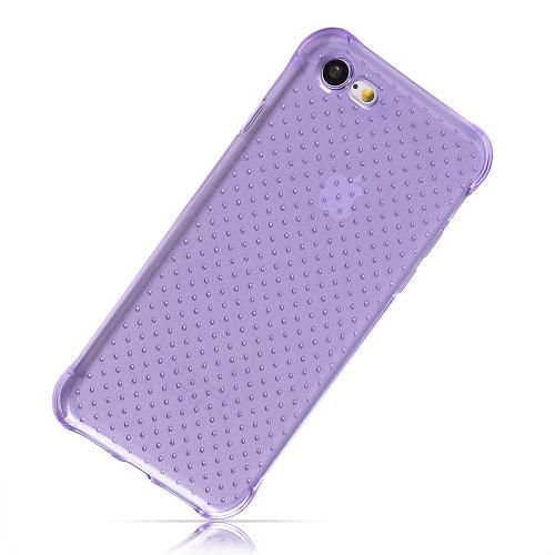 Made for Apple iPhone 8/7/6S/6 Case, [Purple] Durable Anti-shock Crystal Silicone Protective TPU Gel Skin Case Cover with Travel Wallet Phone Stand by Redshield