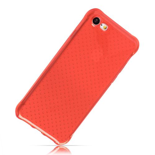 Apple iPhone 8/7/6S/6 Case, REDshield [Red] Durable Anti-shock Crystal Silicone Protective TPU Gel Skin Case Cover with Travel Wallet Phone Stand
