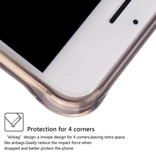 Made for Apple iPhone 8/7/6S/6 Case, [Smoke] Durable Anti-shock Crystal Silicone Protective TPU Gel Skin Case Cover with Travel Wallet Phone Stand by Redshield