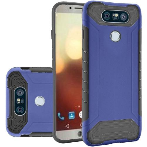 LG G6 Hybrid Case, Shockproof Protection TPU & PC Hybrid Cover Case [Blue/ Black] with Travel Wallet Phone Stand