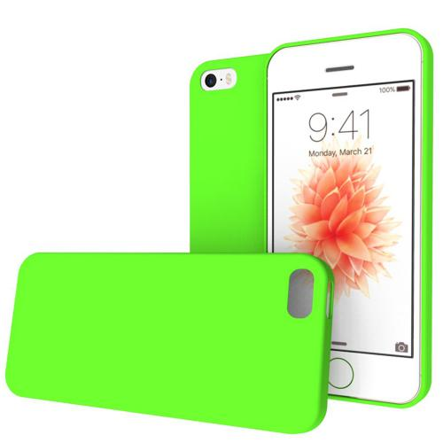 Apple iPhone SE/5/5S Case, REDshield [Lime Green] Crayon Series Slim & Flexible Anti-shock Crystal Silicone Protective TPU Gel Skin Case Cover