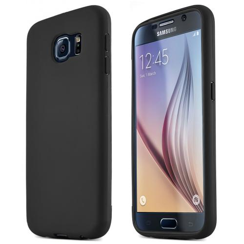 Samsung Galaxy S6 Case,  [Black] Flip-Open Screen Protector Slim & Protective Case w/ Built-In Scratch Resistant Screen Protector