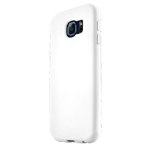 Samsung Galaxy S6 Case,  [White] Flip-Open Screen Protector Slim & Protective Case w/ Built-In Scratch Resistant Screen Protector