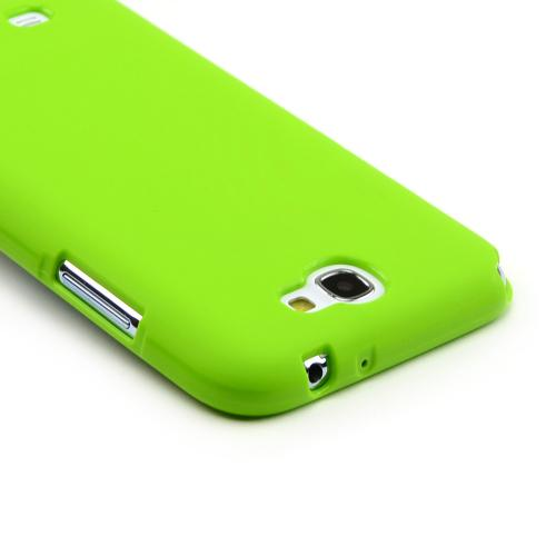 Lime Green Super Premium Anti-Slip Crayon Series Crystal Silicone Case for Galaxy Note 2