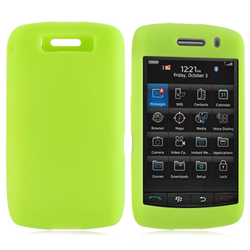 Blackberry Storm 2 Silicone Case, Rubber Skin - Neon Green