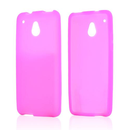Hot Pink Silicone Skin Case for HTC One Mini