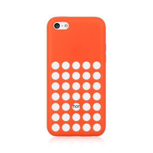 Melon Pink Silicone Skin Case w/ Holes for Apple iPhone 5C