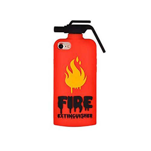[REDshield] Apple iPhone 8 / 7 / 6S / 6 3D Silicone Case, [Red Fire Extinguisher] Flexible Anti-shock Silicone Protective Skin Case Cover