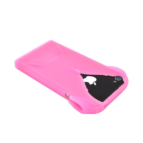 AT&T/ Verizon Apple iPhone 4 Silicone Case - Baby Pink Jacket - XXIP4