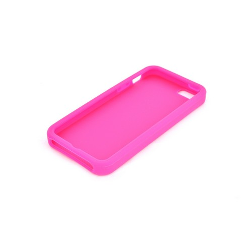 Apple iPhone SE / 5 / 5S  Case,  [Hot Pink]  Slim & Flexible Anti-shock Crystal Silicone Protective TPU Gel Skin Case Cover
