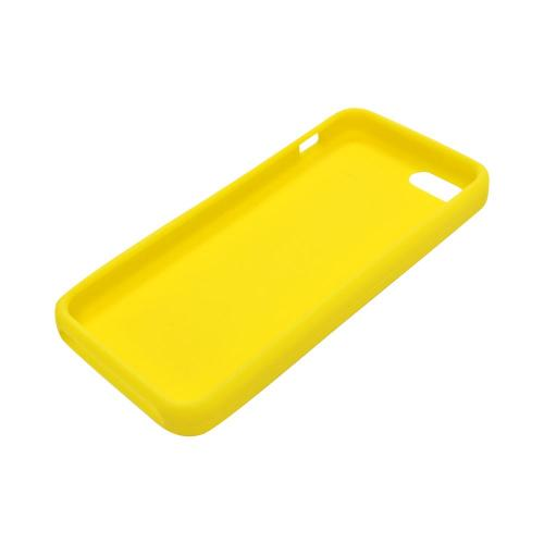 Apple iPhone SE / 5 / 5S  Case,  [Yellow]  Slim & Flexible Anti-shock Crystal Silicone Protective TPU Gel Skin Case Cover