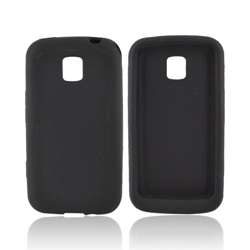 LG Optimus M MS690 Silicone Case - Black