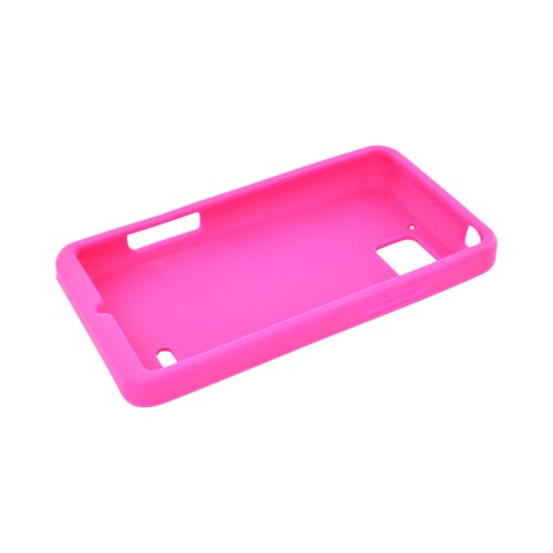 Motorola Droid Bionic XT875 Silicone Case - Hot Pink