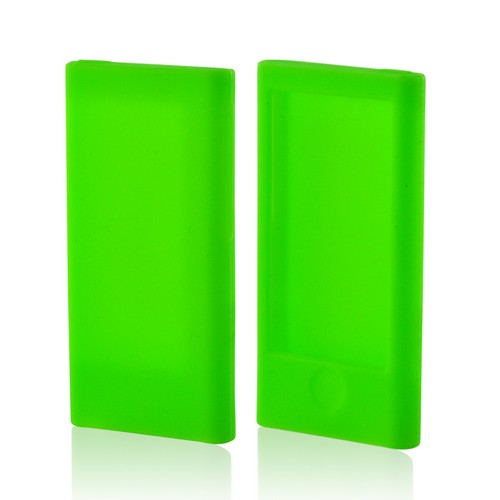 Made for Apple iPod Nano 7 Neon Green Silicone Case by Redshield