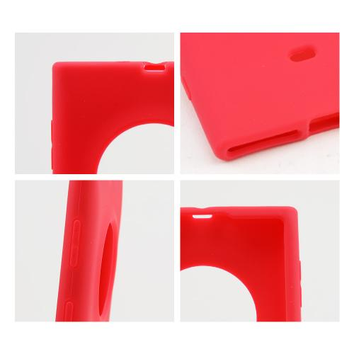 Red Silicone Skin Case for Nokia Lumia 1020