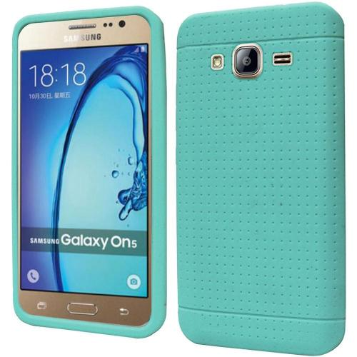 Samsung Galaxy On5 Case, Soft & Flexible Reinforced Silicone Skin Case Cover [Mint]