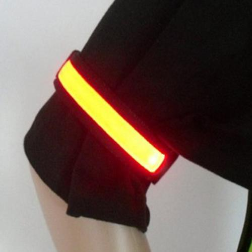 LED Luminous Armband [Black/Red] Bright Flash Light For Running, Cycling etc.