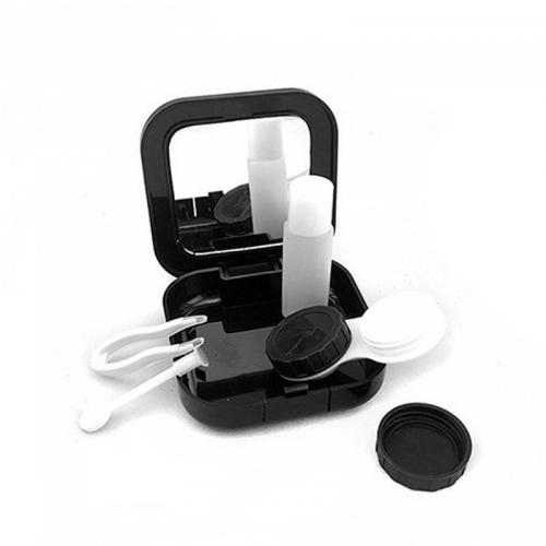 Contact Lens Travel Kit Case, [Black] Portable Eye Care Kit Holder Storage Box - Perfect for Travel or Home!