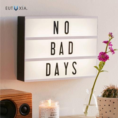 Eutuxia Cinema Light Box with Decorative 60 Letters, Numbers, and Symbols. Broadcast Words and Phrases with Cinematic Personalized Display. Illuminates with LED Lighting. Wall Mountable Decoration