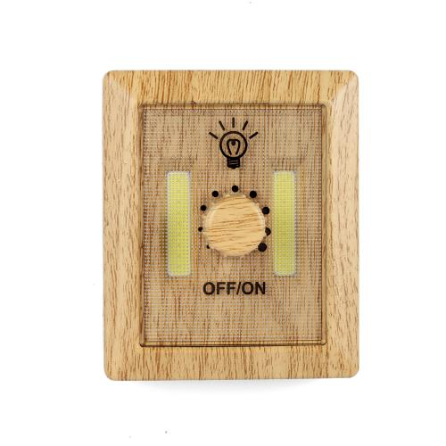 [Kikkerland] Dimmer Light, Vintage Wood Dimmer Light - Super Bright w/ Adjustable LED Lights