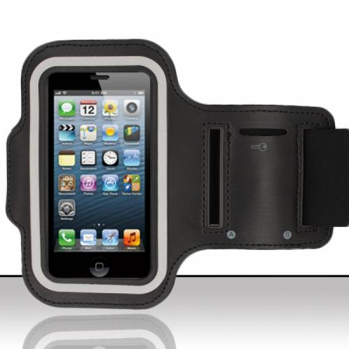 Black Sweat-Proof Neoprene Armband Case w/ Velcro Closure Made for Apple iPhone 6/ 6S/ 7 (4.7 inch)