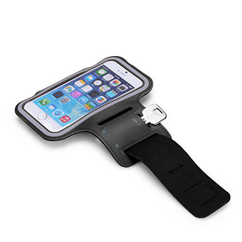 Black Sweat-Proof Neoprene Armband Case w/ Velcro Closure  Made for Apple iPhone 6 PLUS/6S PLUS (5.5 inch)